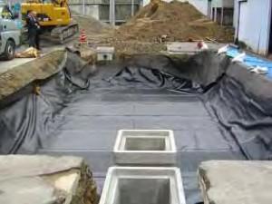 ⑤ 遮水シート敷設