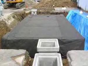 ⑩ 上部透水シート敷設