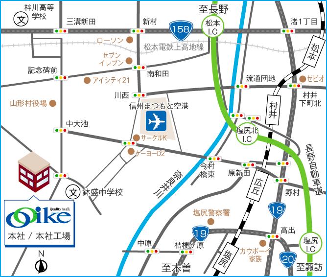 本社・本社工場 地図