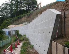 災害復旧事業みどり湖法面補修工事(塩尻市)